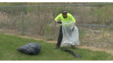 Picking up trash on Kickapoo trail for Earth Day